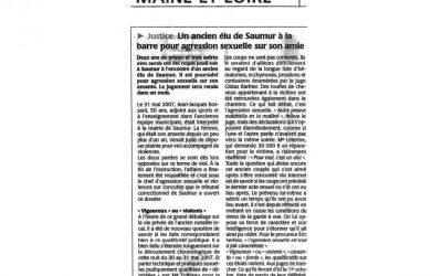 Un ancien élu de Saumur à la barre pour agression sexuelle sur son amie